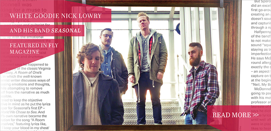 Seasonal the Band in Fly Magazine